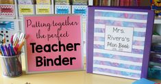 """My teacher binder helps me stay organized all year. Here are five of my favorite tips and ideas for putting together the best teacher binder."""