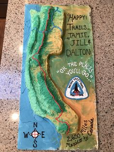 Pacific Crest Trail Cake! #hikingcake #pacificcresttrail #pctcake #backpackers-cake #cakeideas Pacific Crest Trail, Hiking, Cakes, Walks, Cake Makers, Kuchen, Cake, Pastries, Trekking