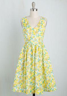 Ace the Zest Dress in Lemon, @ModCloth