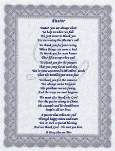 Pastor Anniversary Tributes and Sample Wordings | Poems ...