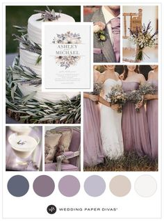 Lavender flowers, rustic hues and earthy scents set the tone for a romantic, rustic wedding—it's no wonder lavender is such a trend. You can't go wrong with flower cake decorations, lavender-inspired cocktails and chiffon dresses. Lavender Wedding Theme, Mauve Wedding, Spring Wedding Flowers, Rustic Wedding Flowers, Dream Wedding, Trendy Wedding, Wedding Colors For Spring, Rustic Wedding Theme, Wedding Ideas