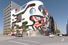 Miami Design District's Museum Garage Will Feature a Façade by WORKac,Courtesy of The Miami Design District