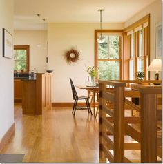High Contrast With Oak Cabinets • Kelly Bernier Designs