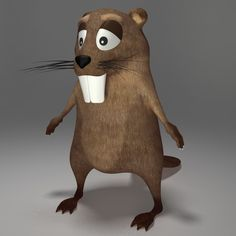 Beaver Cartoon 3D Model - 3D Model