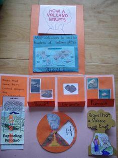 #volcano lapbook