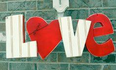 LOVE Door Hanger Tutorial by Guest Blogger Six Sisters' Stuff