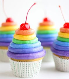 Rainbow Cupcakes from Sprinkle Bakes