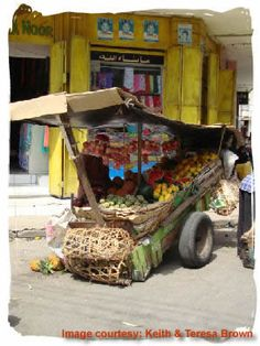 fruit cart, Mombasa