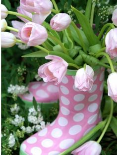 Cool pink boots   from Victoria Mag.