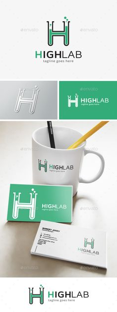 Lab Letter H Logo by dreamstudio29 This logo is great for lab, service, studio, develop, store, agent, forum, community, website, mobile app or any other businessDe
