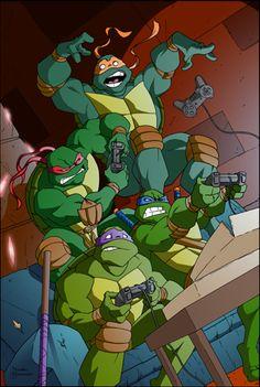 TMNT by ~MBorkowski on deviantART ninja turtles cool piece Teenage Ninja Turtles, Ninja Turtles Art, Turtles Forever, 80 Cartoons, Tmnt 2012, Turtle Love, Fandoms, Graphics, Artwork