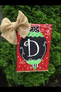 Burlap garden flags Garden flags and Winter christmas on Pinterest