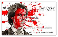 "Original American Psycho ""It's Called Bone"" Patrick Bateman Art Print Axe Murder Horror American Psycho, Poster Prints, Art Prints, Original Art, Horror, The Originals, Axe, Artist, Artwork"