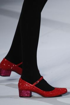 Saint Laurent is killing it with the sparkly shoes this season!