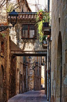 Antigua calle, Tarragona,Cataluña.