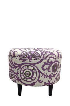 Purple Passion Round Ottoman