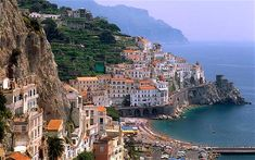 Sorrento, Italy. I was here in '05 and I think our hotel was in the middle somewhere behind the coastal wall.