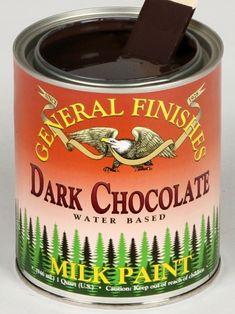 Dark Chocolate Milk Painted Kitchen Cabinets | General Finishes Design Center
