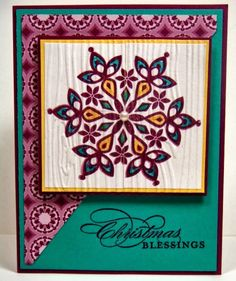 Stamping with Julie Gearinger: Stampin' Up! 2nd card using the CCMC272 Colors and CAS46 Sketch