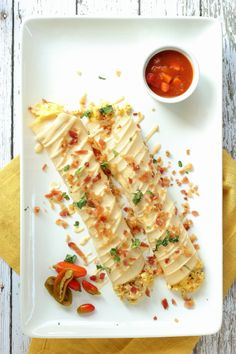 Bacon and Egg Stuffed Crepes via Foodness Gracious for Cost Plus World Market Breakfast and Brunch Recipes, Entertainment ideas Easy Brunch Recipes, Dinner Recipes For Kids, Kids Meals, Breakfast Recipes, Healthy Food List, Easy Healthy Dinners, Healthy Snacks, Yummy Snacks, Yummy Food