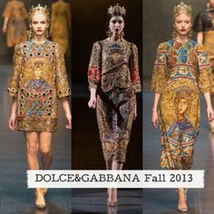 6.Dolce & Gabbana Fall 2013. Tunic is well embellished, with decorative jewelry, similar to compared image.