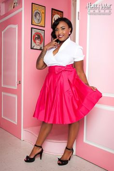Audrey Skirt in Pink - Plus Size