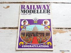 1981 Collectible Charles and Diana Railway Modeller magazine