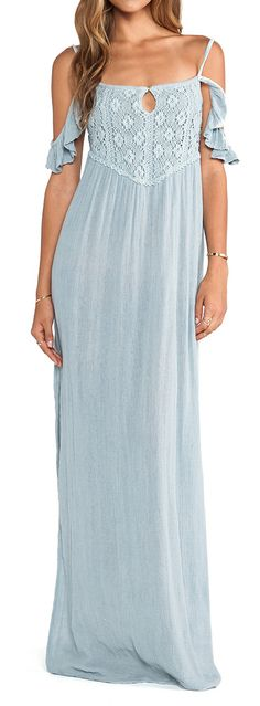 Gauzy off shoulder maxi