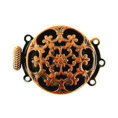 22mm Antique Copper Brass Round Filigree by FancyGemsandFindings, $5.00 Jewelry Clasps, Pearl Jewelry, Antique Copper, Brass, Strands, Filigree, Necklaces, Unique Jewelry, Handmade Gifts