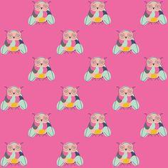 Free digital pink owl scrapbooking and fun paper – ausdruckbares Geschenkpapier – freebie | MeinLilaPark