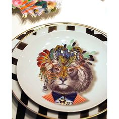 Maison & Objet.  Christian Lacroix new Porcelain tableware collection by @vistaalegreofficial on Hall 7-Stand K90.