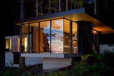 Haus Wald Beleuchtung