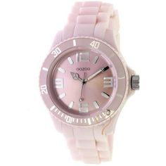 Ρολόι Oozoo Unisex 43mm Silver Bezel-Cream Rubber Strap 0e4739546da