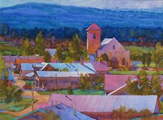 Tierra Amarilla, New Mexico by Carl Dalio Watercolor ~ 21 x 29 Various Artists, New Artists, Olive Jar, Remembering Dad, Watercolor Paintings, Watercolors, New Mexico, Doodle Art, Doodles