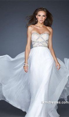 Modern 2015 Prom Dresses Sheath/Column Floor Length Sweetheart Chiffon Rhinestone http://www.ikmdresses.com/Modern-2014-Prom-Dresses-Sheath-Column-Floor-Length-Sweetheart-Chiffon-Rhinestone-p83169