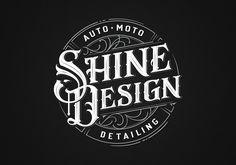Shine Design by Mateusz Witczak   Lettering, typo, logo, badge, retro, auto, moto   Poland
