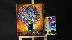 48:15 Flowers in a Vase Palette knife (Acrylic)