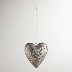One of my favorite discoveries at WorldMarket.com: Iron Heart Lantern Tealight Candleholder