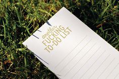 Another Fing ToDo List by AnotherFingTote on Etsy