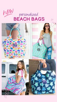 Monogrammed beach bag can be monogrammed with custom embroidery with a name or monogram. Haul it all to the beach with the large bag! Holds a couple of towel and all of the essentials! Patterns: Sea Turtle, Leopard, Flamingo, Pineapple & Marble Large Beach Bags, Large Bags, Embroidered Gifts, Can Holders, Beach Ready, Custom Embroidery, Things To Buy, Travel Bags, Turtle