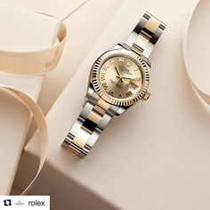 #Repost @rolex with @repostapp ・・・ The champagne-colour dial of this Lady-Datejust 28 Rolesor, with its warm yellow tone, creates a visual resonance with the 18ct yellow gold fluted bezel and centre links of its Oyster bracelet. This combination is a true Rolex classic. #Rolex #LadyDatejust #101031 Stop in and shop our collection of Rolex watches, for the perfect Christmas gift! #GiftsForHer #GiftsForHim #christmaswishlist