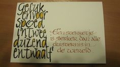 Wenskaarten This Is Us Quotes, Calligraphy Letters, Christmas Cards, Greeting Cards, Inspiration, Script, Van, Calligraphy, Fimo
