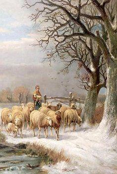 Painting Sheep Paintings, Great Paintings, Beautiful Paintings, Sheep Drawing, Watercolor Art Landscape, Sheep Art, Baa Baa, Farm Art, Cottage Art
