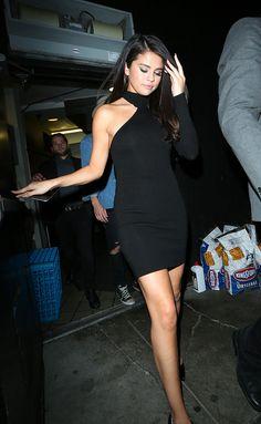 Selena Gomez rocks her #NastyGal LBD || Shop dresses: http://www.nastygal.com/clothes-dresses?utm_source=pinterest&utm_medium=smm&utm_term=nastygals_in_the_wild&utm_campaign=influencer