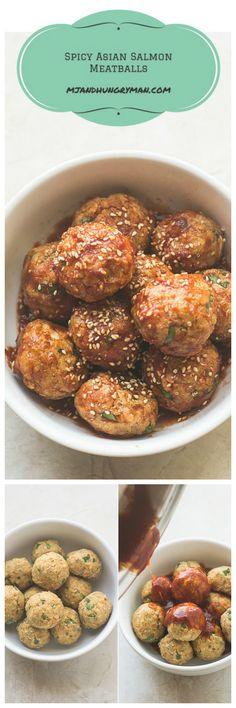 Spicy Asian Salmon Meatballs // The Adventures of MJ and Hungryman @mjandhungryman