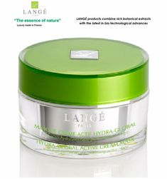 LANGE Paris luxury Bio-cosmetics Moisturizing HYDRA GLOBAL ACTIVE CREAM-MASK  #LANGEParisFranceluxurybotanicalcosmetics