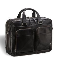 """Деловая сумка BRIALDI Aspen (А́спен) black     Серьезная деловая сумка для документов и портативной электроники. В этой сумке поместятся все вещи, необходимые для активного трудового дня. Располагает современной опцией – отдельным отсеком для ноутбука (до 16""""). В основном отделении размещены карманы на молнии и открытого типа, отсеки для планшета. Наличие большого количества внешних карманов позволят разместить любые сопутствующие аксессуары. Справа сбоку есть дополнительный отсек для…"""