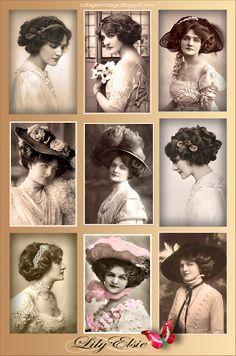 collage vintage fotos antiguas