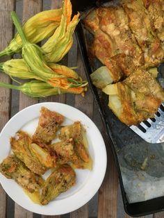 Tranci di fiori di zucca con patate e formaggio | Tempodicottura.it