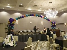 Floating Arch with Columns, Balloons by Balancia LLC